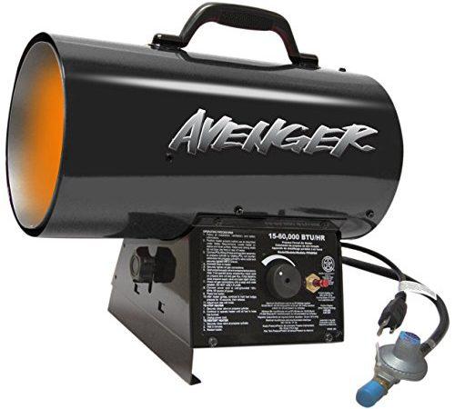 Avenger FBDFA60V Portable Forced Air Propane Heater, 60000 ...